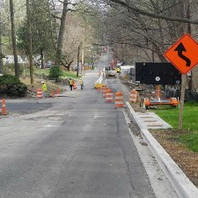 Contractor installed MOT signs and switched traffic for phase 3A-1 construction from Rittenhouse to Tennyson.