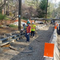 Contractor formed and set PCC Curb and Gutter.