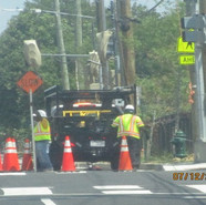 Pulling wire through at NB MLK & Cypress St, SE.