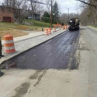 Contractor preparing to place Asphalt
