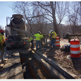 Placed concrete for elecric conduit & Blank Out foundatin at 16th NW & Arkansas Ave SW corner.