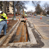 Electric Conduit pipe at 16th St. & Arkansas Ave NW SW corner.