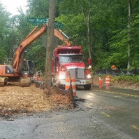 Contractor excavated existing embankment for retaining wall #3 installation.