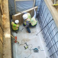 Contractor continued to construct within Shore Box, the cast-in place Manhole.