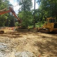 Contractor prepared staging area for Bridge work contractor.