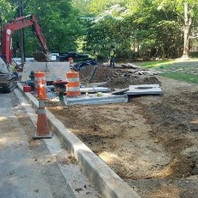 Contractor continued backfilling operation.