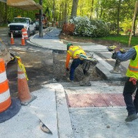 Contractor excavated pavement, placed GAB and poured concrete for PCC Base on Oregon Ave and Unicorn Lane.