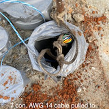 7 con. AWG 14 cable pulled to ITS foundation.