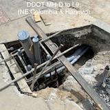 Conduit between DDOT MH-D to L9. (NE Columbia & Harvard)