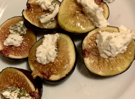 Baked Figs & Goat Cheese Early Fall Recipe
