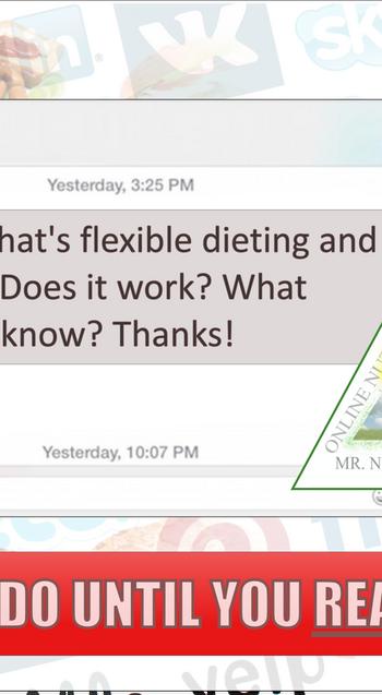 P1: IIFYMs & flexible dieting?