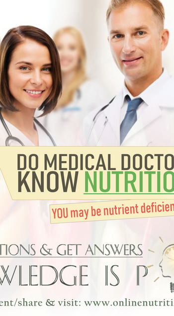 Do medical doctors know nutrition?