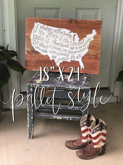 Custom Order 18x24 Pallet Sign