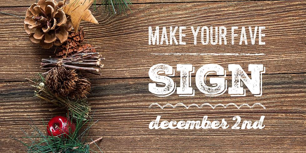 Make Your Fave  December 2nd
