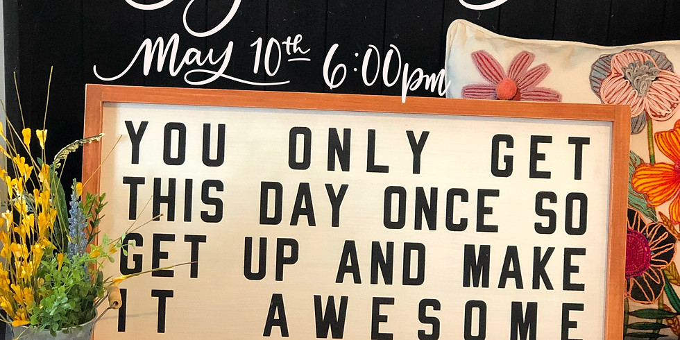 Make Your Fave Sign May 10th