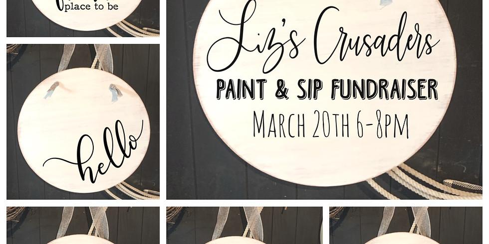 Liz's Crusaders Paint & Sip Fundraiser