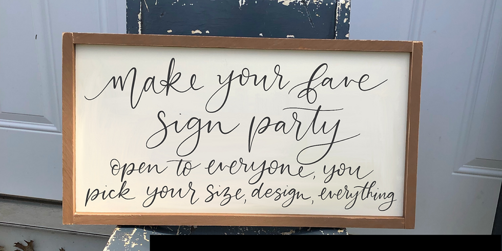 Make Your Fave Sign May 25th