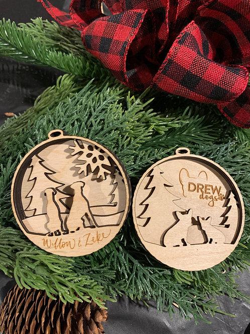 Custom Pup Ornaments