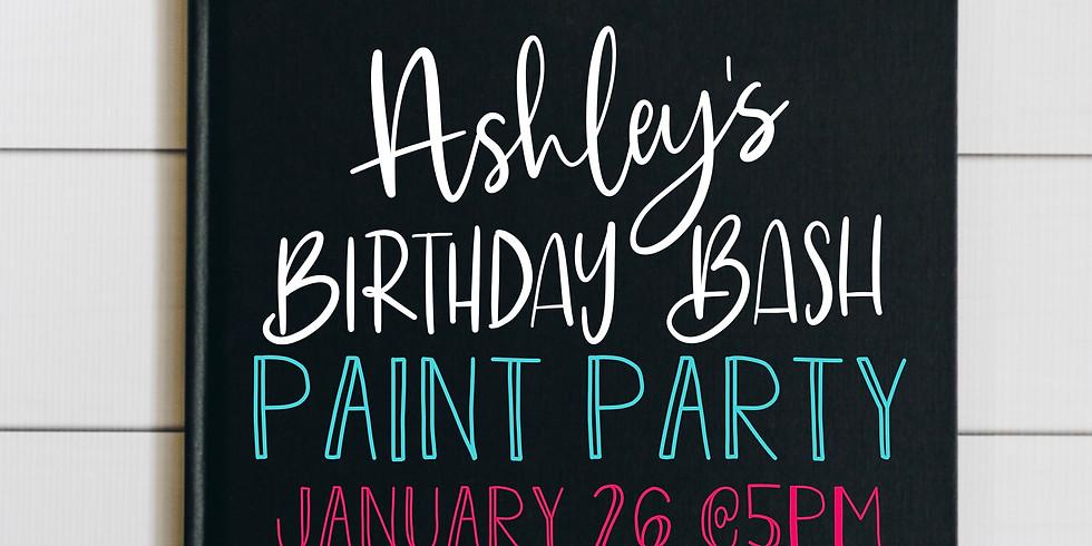 Ashley's Birthday Bash Paint Party