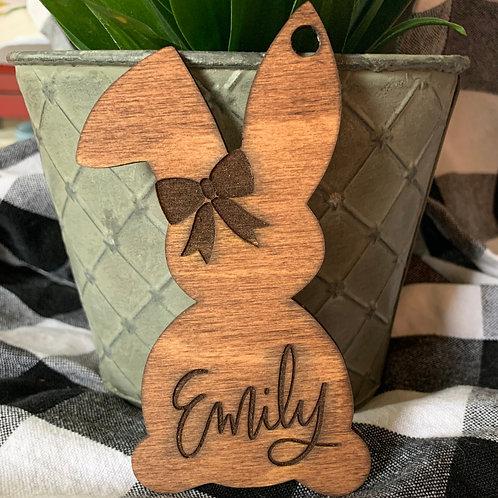 Easter Bunny Basket Name Tag