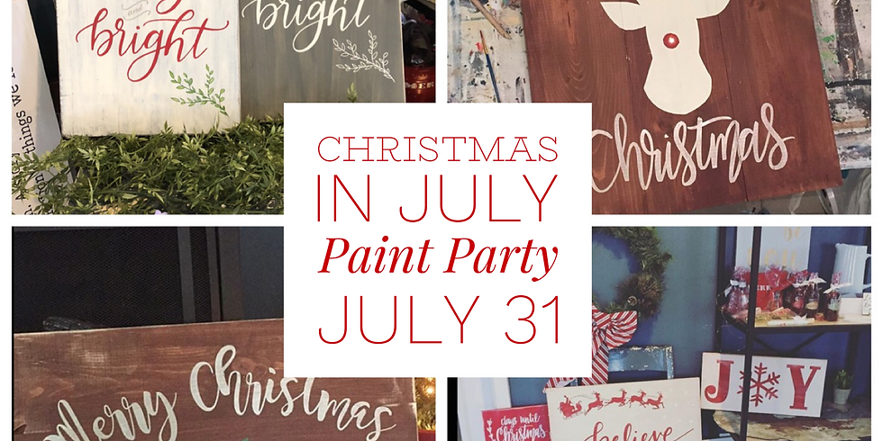 Christmas In July Sign Party