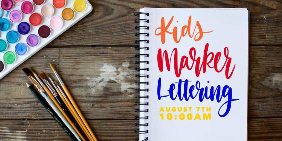 Kids Lettering Workshop