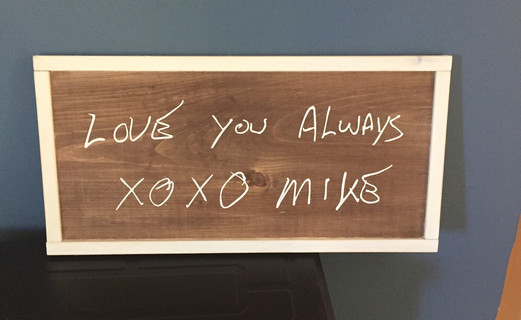 Custom Sign with handwriting