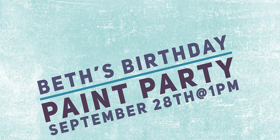 Beth's Birthday Paint Party