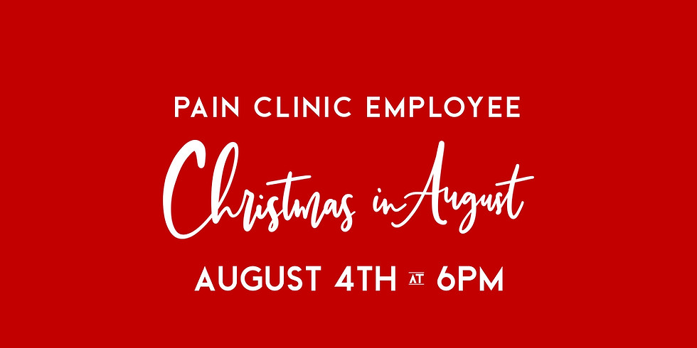 Pain Clinic Christmas in August Party