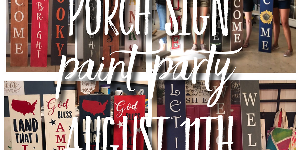 Porch Sign Paint Night