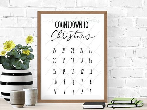 Countdown to Christmas digital file