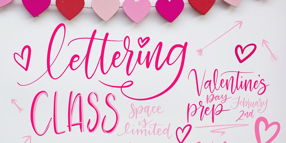 Valentines Lettering Workshop