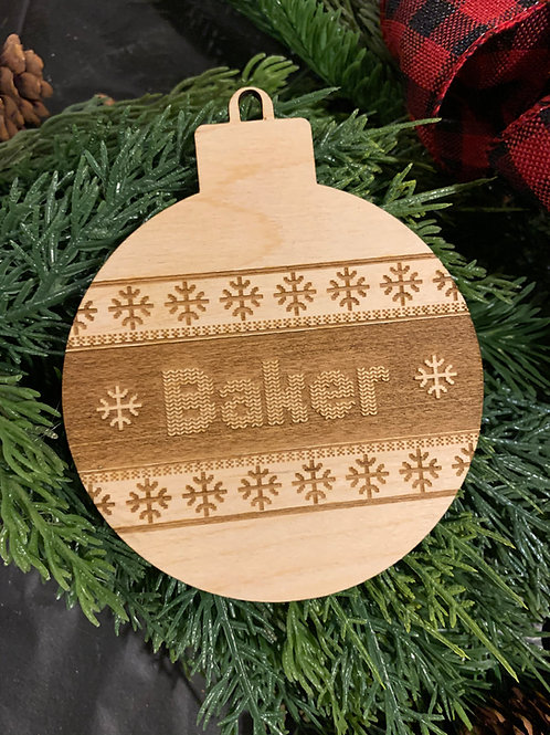 Custom Ugly Sweater Engraved Ornaments