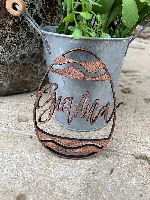 Easter Egg Basket Name Tag