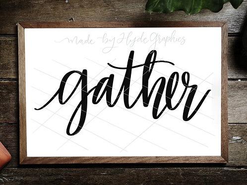 Gather digital file