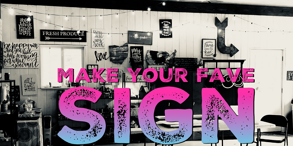 Make Your Fave Sign September 12th