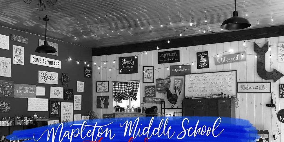 Mapleton Middle School Teacher Paint Party
