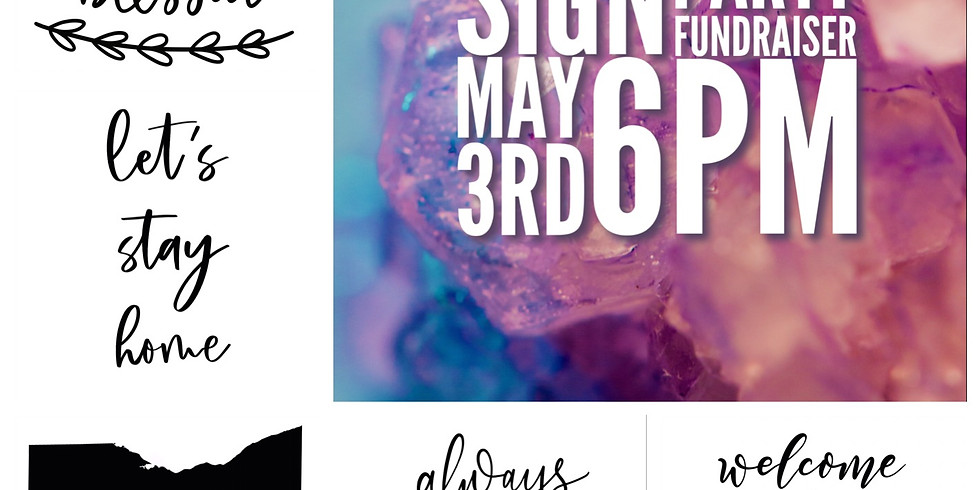 Liz's Crusaders Sign Party Fundraiser