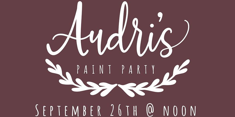 Audri's Paint Party