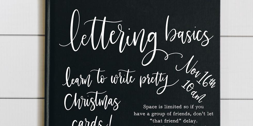 Lettering Basics Christmas Edition