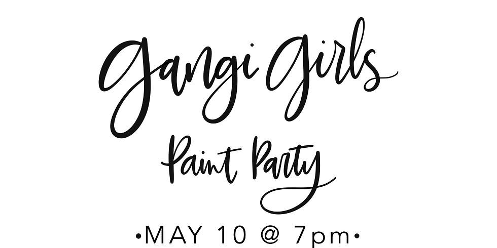 Gangi Girls Paint Party