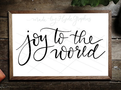 Joy to the world digital file