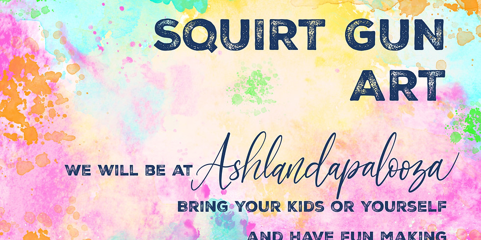 Squirt Gun Art at Ashlandapalooza