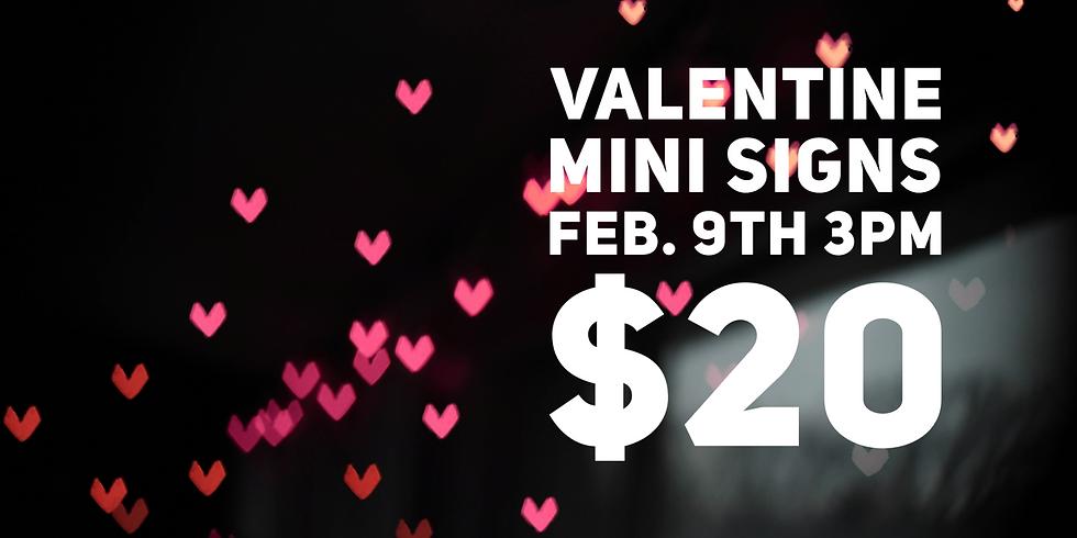 Valentine Mini Signs