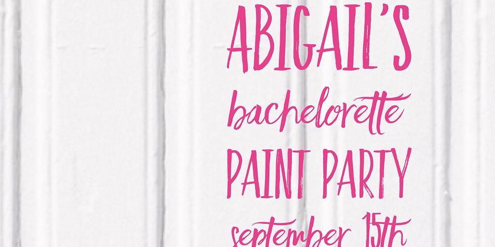 Abigail's Bachelorette Paint Party