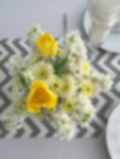 Yellow and White Wedding Flower Centerpieces