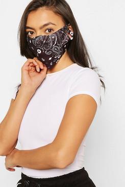 paisley print face mask