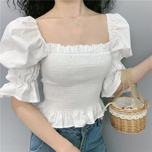 white puff sleeve blouse uk