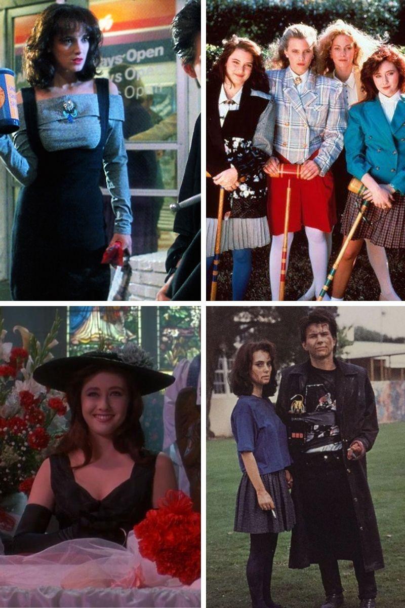 Stills collage of Michael Lehmann's Heathers.