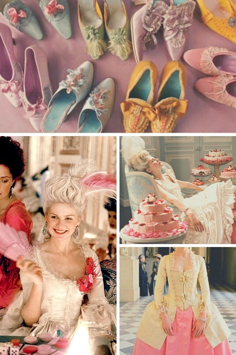 Stills collage from Sofia Coppola's Marie Antoinette